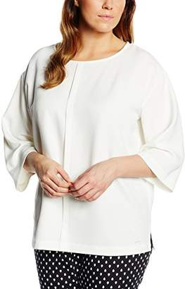 Off-White Triangle by s.Oliver Women's Regular Fit 3/4 Sleeve Blouse