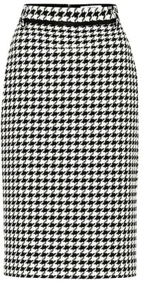 MSGM Houndstooth tweed skirt