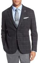 Lubiam Men's L.b.m 1911 Classic Fit Windowpane Wool & Cotton Sport Coat