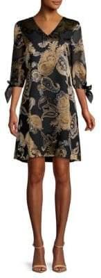 Lafayette 148 New York Kenna Printed V-Neck Dress