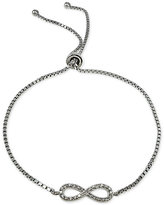 Giani Bernini Cubic Zirconia Infinity Adjustable Bracelet in Sterling Silver, Only at Macy's