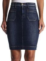 Hudson Denim Patch-Pocket Skirt