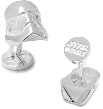 Cufflinks Inc. 3D Star Wars Stormtrooper Sterling Silver Cuff Links
