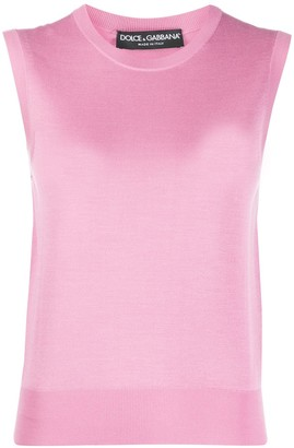 Dolce & Gabbana Knitted Sleeveless Top