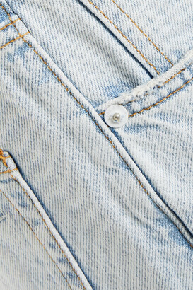 Rag & Bone Maya Distressed High-rise Straight-leg Jeans