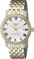 Tissot Men's T0974072203300 Bridgeport Analog Display Swiss Automatic Two Tone Watch