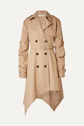 Jonathan Simkhai Asymmetric Cotton-twill Trench Coat - Beige