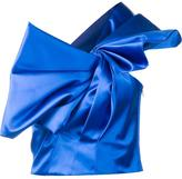 Saint Laurent pleated knot bustier - women - Silk - 38