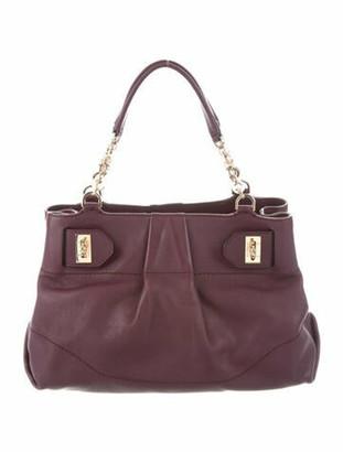 Salvatore Ferragamo Leather Gancini Bag Plum