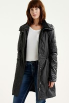 Point Zero Embossed Shell Jacket With Quilted Sleeves