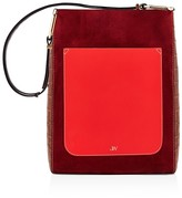 Jason Wu Julia Color Block Suede & Leather Shoulder Bag