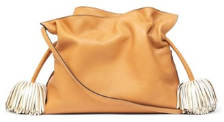 Loewe Flamenco Tasselled Leather Cross-body Bag - Tan Multi
