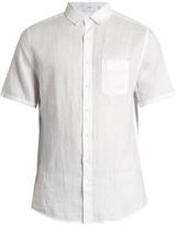 Onia Jack short-sleeved linen shirt