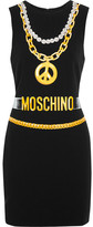 Moschino Printed Crepe Mini Dress - Black