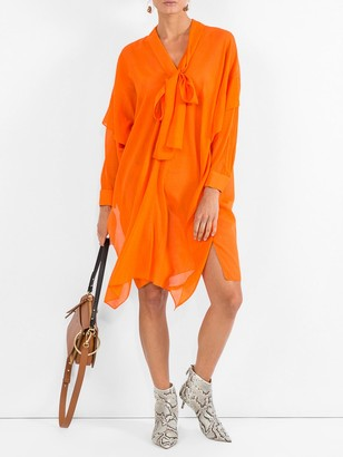 Maison Rabih Kayrouz Woven Etamine Dress Orange
