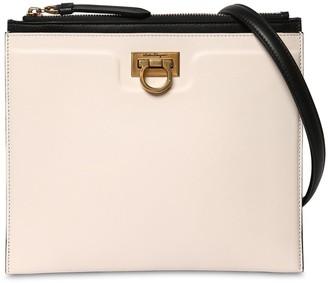 Salvatore Ferragamo Gancio Squared Leather Shoulder Bag