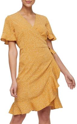 Vero Moda Henna Wrap Mini Dress