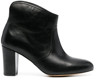 Tila March Heeled Slip-On Leather Boots