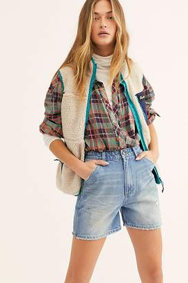 Lee High Rise Dungaree Short at Free People