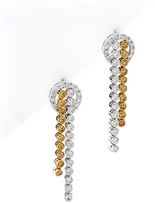 Diana M Fine Jewelry 18K Two-Tone 2.25 Ct. Tw. Diamond Earrings