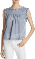 Beltaine Chambray Gauze Top