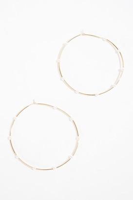 Forever 21 Faux Pearl Hoop Earrings