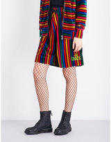 Anglomania Bombey boyfriend-fit mid-rise velvet shorts