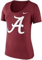 Nike Women's Alabama Crimson Tide Logo Scoopneck Tee