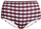 Solid & Striped The Brigitte gingham bikini briefs