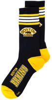 For Bare Feet Boston Bruins Retro 4 Stripe Deuce Crew Socks