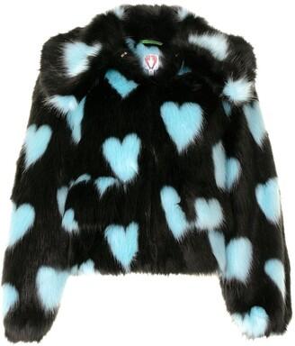 Shrimps Heath heart-print jacket