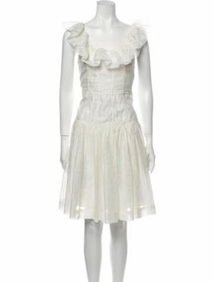 Ulla Johnson Scoop Neck Knee-Length Dress White