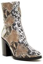 Topshop Million Snake Print Sock Boot