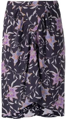 Etoile Isabel Marant Floral-Print Gathered Skirt