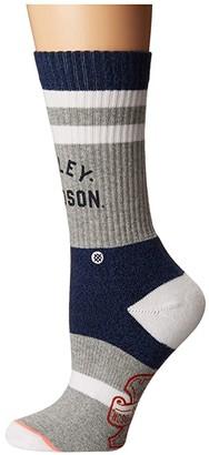 Stance Davidson (Blue) Women's Crew Cut Socks Shoes