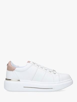 Carvela Jubilate Heel Embellished Chunky Trainers, White/Pink