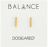 Dogeared Balance Flat Bar Stud Earrings