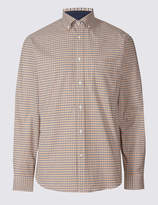 Luxury Stretch Oxford Checked Shirt
