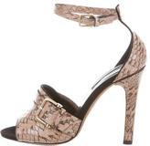 Derek Lam Snakeskin Multistrap Sandals