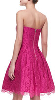 Milly Ava Sweetheart Strapless Lace Dress
