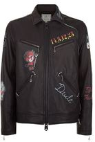 Miharayasuhiro Painted Leather Jacket