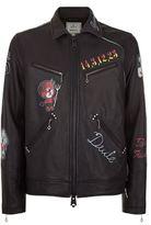 Miharayasuhiro Painted Leather Jacket