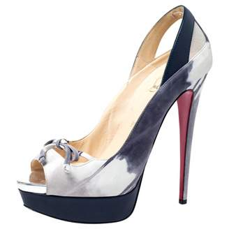 Christian Louboutin Grey Leather Heels