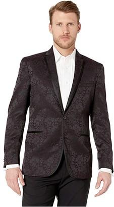 Kenneth Cole Reaction Floral Evening Jacket (Burgundy) Men's Coat