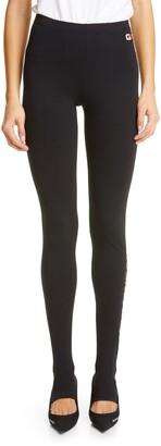 Balenciaga Gym Wear Logo Footed Leggings