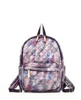 M Z Wallace Small Metro Pixel-Print Quilted Nylon Backpack