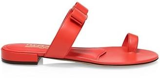 Salvatore Ferragamo Louisa Flat Leather Sandals