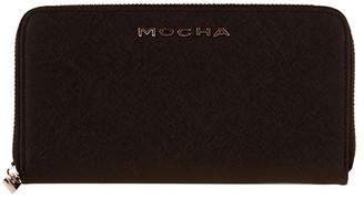 Mocha Kylie Leather Wallet - Black