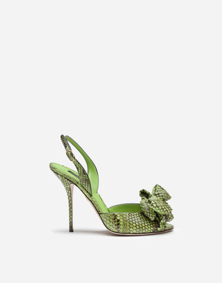Dolce & Gabbana Sandals In Python With Bow