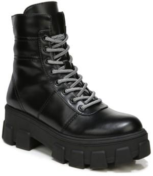Sam Edelman Women's Demi Quilted Lug Sole Combat Booties Women's Shoes